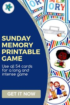 Use this memory game for church, Sunday School, primary, family night, or Sunday afternoons at home! Kids will have fun while remembering why Sunday is important. #SundayActivity #SundayPrintables #PrimaryPrintables #Primary #LDSPrimary #LDSPrintables #MinisteringPrintables Sunday Activities, Primary Activities, Lds Blogs, Quick Games, Intense Games, Service Ideas, Lds Primary, Memory Games, Family Night
