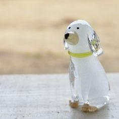 ガラスの干支 戌 2018(洋犬)ミント|置物|小林亮二|ハンドメイド通販・販売のCreema