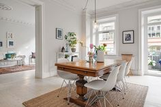 mixed tables and chairs in interior - Google Search