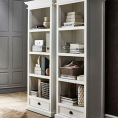Enjoy stylish storage with the Nova Solo Halifax Decorative Bookcase with Drawer - White . This bookcase provides versatility for your storage needs,. Bookcase With Drawers, White Bookshelves, Open Bookcase, Bookcases, Cubicle Storage, Living Room Furniture, Home Furniture, Furniture Outlet, Online Furniture