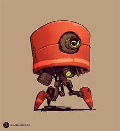 Nuthin But Mech: Red Bot ★ || CHARACTER DESIGN REFERENCES (www.facebook.com/CharacterDesignReferences & pinterest.com/characterdesigh) • Do you love Character Design? Join the Character Design Challenge! (link→ www.facebook.com/groups/CharacterDesignChallenge) Share your unique vision of a theme every month, promote your art, learn and make new friends in a community of over 16.000 artists who share your same passion! || ★