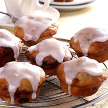 Banana Muffins with Lemon Icing  Weight Watchers Pt.Plus 5