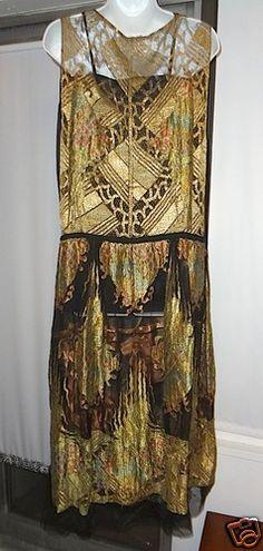 by ERTE for PAUL POIRET --Stunning Original Art Deco Silk Dress at EBAY