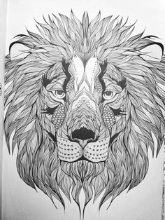 Free Coloring pages printables Lion head drawing Lions and