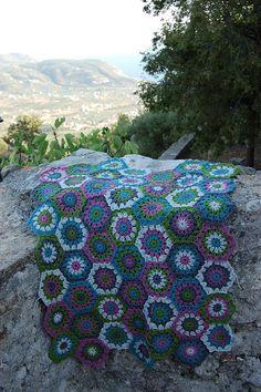hexagon blanket   Flickr - Photo Sharing!