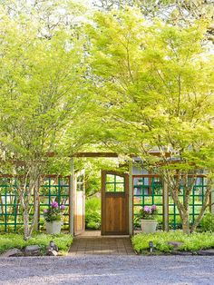 Sometimes the best privacy screen comes with a few holes in it. More tips for creating a secluded yard: http://www.bhg.com/gardening/landscaping-projects/landscape-basics/landscaping-ideas-for-privacy/?socsrc=bhgpin041012privacy