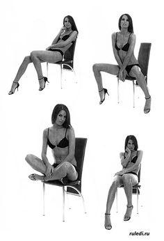 Позы для фото часть 2 - на стуле