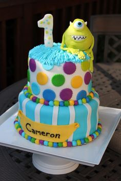 monsters inc birthday cake ideas | In Fine Fettle: Monsters Inc Cake