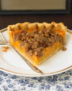 Sweet Potato Pie with Pecan Topping Recipe