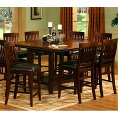Mira Monterey Counter Height Dining Table - http://www.furniturendecor.com/mira-monterey-counter-height-dining-table/ - Dining Room Furniture, Dining Tables, Furniture, Home and Kitchen