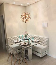 120 Simple Small Apartment Decorating Ideas Home Dining Nook, Dining Room Design, Room Interior, Home Interior Design, Kitchen Interior, Living Room Decor, Bedroom Decor, Wall Decor, Small Apartment Decorating