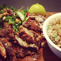 Sticky Kickin' Chicken and Crunchy Asian Salad (Jamie Oliver Style!) - Substitute coconut aminos for gf soy sauce or tamari, to make soy free.