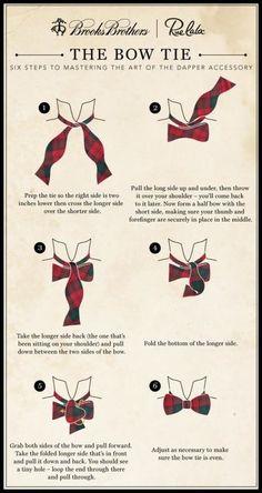 Men's Essentials: How to Tie a Bow Tie. Bow Ties are your friend, learn this. Mens Wardrobe Essentials, Men's Wardrobe, How To Have Style, My Style, Prep Style, Aldo Conti, Traje A Rigor, Estilo Cool, Mode Masculine
