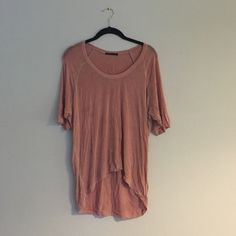 Pink elongated Brandy shirt Super soft!! Brandy Melville Tops Tees - Short Sleeve