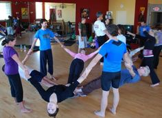 Acro yoga - Do with kids after school as a team building and calming exercise