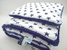 minky kocyk, kocyk gwiazdki, minky kocyk granatowy, baby blanket stars, fluffy baby blanket,