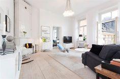 W domu Marty: Jasne mieszkanie w Sztokholmie