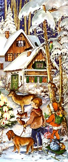 vintage Advent calendar, Germany