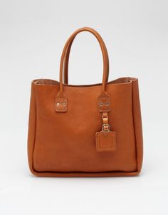Leather Tote In Tan by BillyKirk