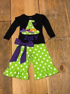 Girls Halloween Outfit. Ruffle Pants Capris by EverythingSorella
