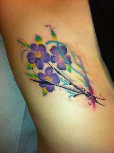 violets flowers tattoos - Google Search