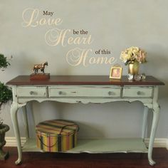 May Love be the Heart of this Home - Vinyl Wall Decal Quote Lettering Decor - Family Den Living Room Wall Art 22H x 36W LO004 on Etsy, $36.95