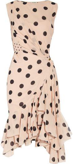 Nina Ricci ~ Polkadot Silk-Georgette Dress