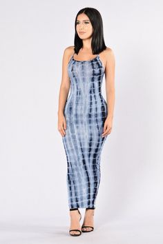 Mermaid on Land Dress - Blue
