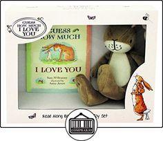 """Rainbow Designs gh1351""""Guess How Much I Love You Libro y Set de regalo de felpa  ✿ Regalos para recién nacidos - Bebes ✿ ▬► Ver oferta: http://comprar.io/goto/B01E8XC66K"""
