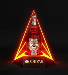 CHIVAS glorifier display by Dmitry Gelishvili, via Behance