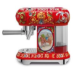 "Smeg ""Sicily is my Love"" Small Appliances, Dolce & Gabbana - Manual Espresso Coffee Machine - Limited Edition, H: L: W:"
