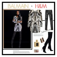 """BALMAIN X H&M"" by salmahfirdaus on Polyvore featuring Balmain and COVERGIRL"