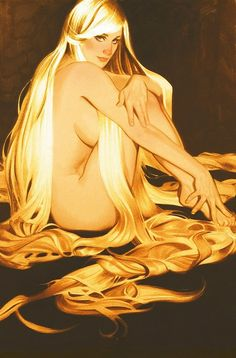 Pin Up Girls • Rapunzel by Adam Hughes