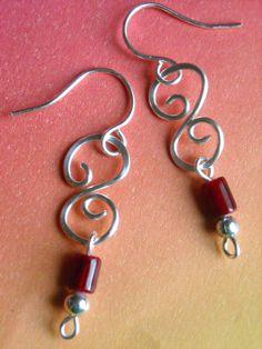 S is My Favorite Letter Wire Earrings by brightideasjewelry, $14.00