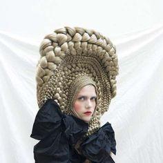 Architectural Hair Braids - Studio Marisol's Series for CuldeSac Crazy Hair Art Workshop is Wild (GALLERY)
