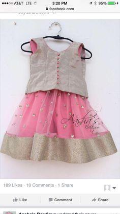 Baby Girl Dress Patterns, Little Girl Dresses, Girls Dresses, Baby Dresses, Kids Indian Wear, Kids Ethnic Wear, Baby Lehenga, Kids Lehenga, Little Girl Fashion