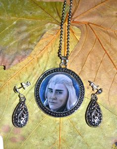 Necklace and earrings set  Thranduil elven jewellery by JankaLart