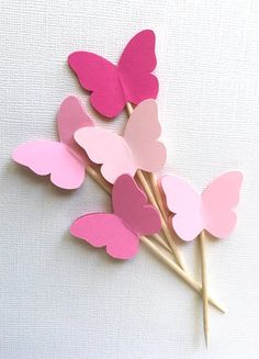24 Mixed Pink Butterfly Cupcake Toppers Butterflies are delivered flat, but the wings can be fluffed out to create a beautiful effect Made in an eco-friendly pergola bag Butterfly Birthday Party, Butterfly Baby Shower, Pink Butterfly, Pink Birthday, Birthday Cupcakes, Easter Crafts, Crafts For Kids, Easter Decor, Easter Ideas