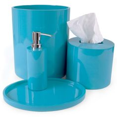 jonathan adler turquoise lacquer bath accessories