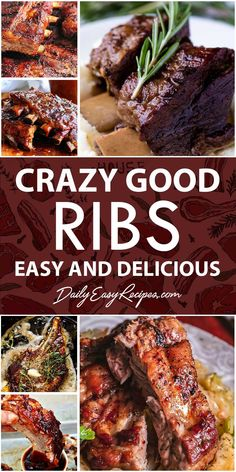 Finding something delicious to treat family at weekend, have you had idea yet? In the article today, we are glad to share 30 best delicious rib dishes that you can make at home. Slow Cooking, Cooking Recipes, Healthy Recipes, Rib Recipes, Smoker Recipes, Recipies, Delicious Dishes, Yummy Food, Pulled Pork
