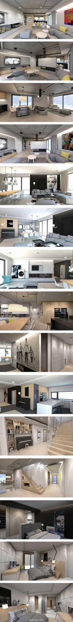 波兰奥济梅克二层住宅,淡色木质清新自然,屋外白雪皑皑,屋内舒适温暖。。
