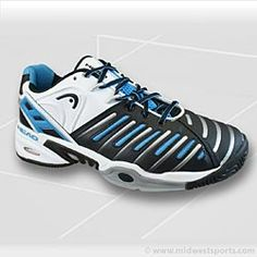 HEAD Men`s Prestige Pro II Tennis Shoes Black/Blue/White
