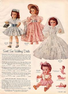 Sweet Sue Walking Dolls, 1956 Sears Christmas Catalog by Wishbook, via Flickr