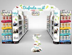 Diseño de campaña Shopper Marketing para Beneful con diseño de exhibidores y muebles en punto de venta