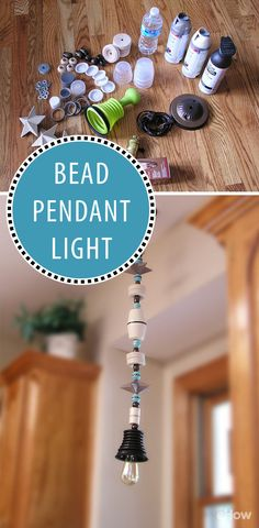So adorable! All you need to create a charming bead pendant light are simple materials, such as wooden beads, papier-mache stars and plastic caps, and a quick light kit. You can even hard-wire it in to your house with just a few extra steps. http://www.ehow.com/how_12340924_easy-diy-charming-wooden-beads-pendant-light.html?utm_source=pinterest.com&utm_medium=referral&utm_content=freestyle&utm_campaign=fanpage
