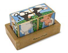 Cubes casse-tête animaux - avec sons - Castello   Jeux et Jouets