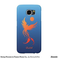 Rising Phoenix in Flames Phone Case Samsung Galaxy S6 Cases