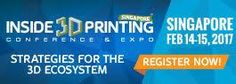 in Singapore is less than two weeks away. Don't hesitate, register today! Singapore, The Voice, 3d Printing, Prints, Impression 3d