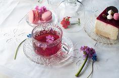 #cake#pink#tea#table#flower#house#idea#morning