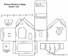 6 Best Images of Printable Templates For Putz Houses Patterns - Putz Glitter Houses Patterns for Christmas, Putz House Template and Free Printable Paper House Patterns Templates Putz Houses, Christmas Village Houses, Christmas Villages, Fairy Houses, Christmas Paper, Little Christmas, Christmas Home, Christmas Crafts, Xmas